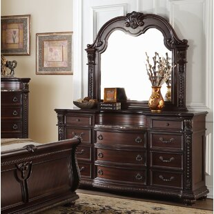 Caitlyn 11 Drawer Dresser with Mirror by Astoria Grand