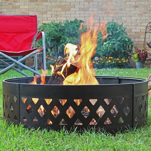 Charlton Home Margene Steel Fire Ring