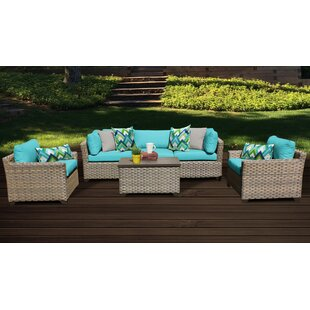 Monterey Outdoor 6 Piece Sofa Seating Group with Cushions
