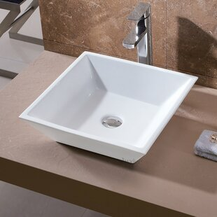 Inexpensive Ceramic Square Vessel Sink Bathroom Sink By Luxier