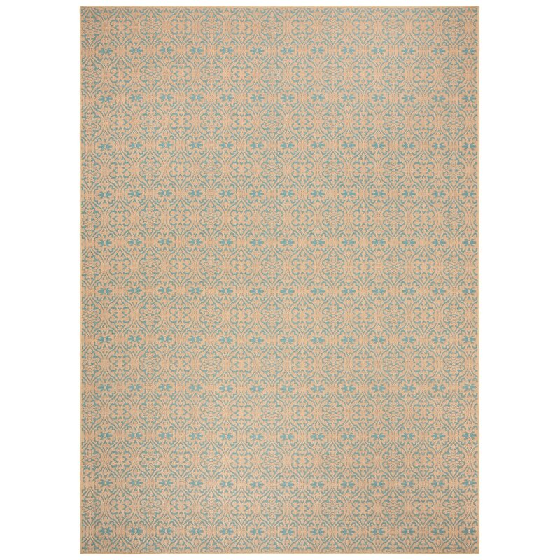 Highland Dunes Allegra Handwoven Flatweave Brown Blue Area Rug