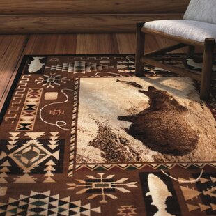 Lacour High Quality Woven Ultra-Soft Traditional Southwest River Theme Berber Area Rug By Loon Peak