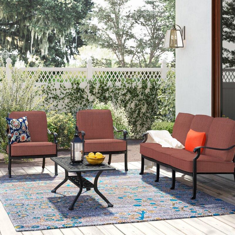 Astoria Grand Mccraney 4 Piece Sofa Set with Cushions