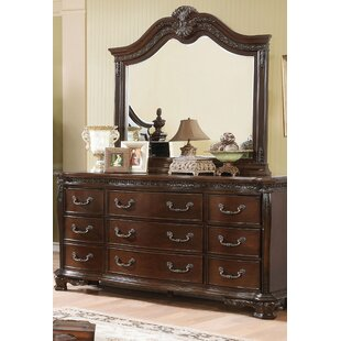 Rishel 9 Drawer Double Dresser with Mirror