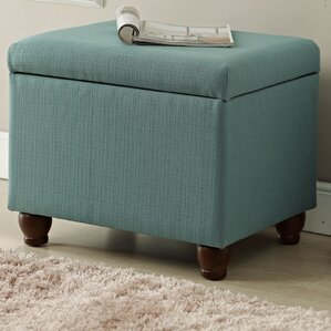 Delightful Birmingham Upholstered Storage Cube Ottoman