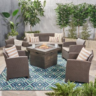 Merriweather 6 Piece Rattan Sofa Seating Group with Cushion