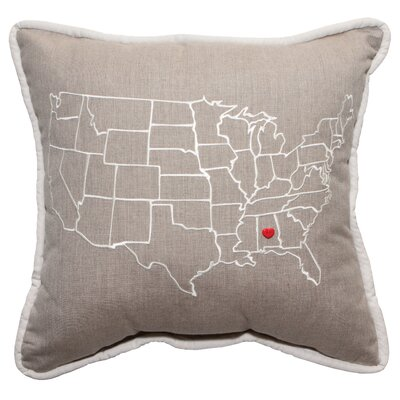 Sunbrella® Throw Pillow by Trinx Today Only Sale
