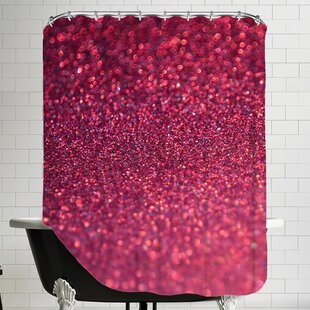 Sparkley Shiny Glamour Shower Curtain ByEast Urban Home