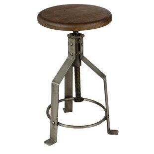 Fareham Height Adjustable Swivel Bar Stool By Williston Forge