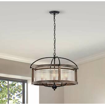Gracie Oaks Camarillo 4 Light Lantern Square Chandelier Wayfair