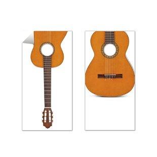 The Cornhole Crew 2 Piece Acoustic Guitar Cornhole Board Decal Set
