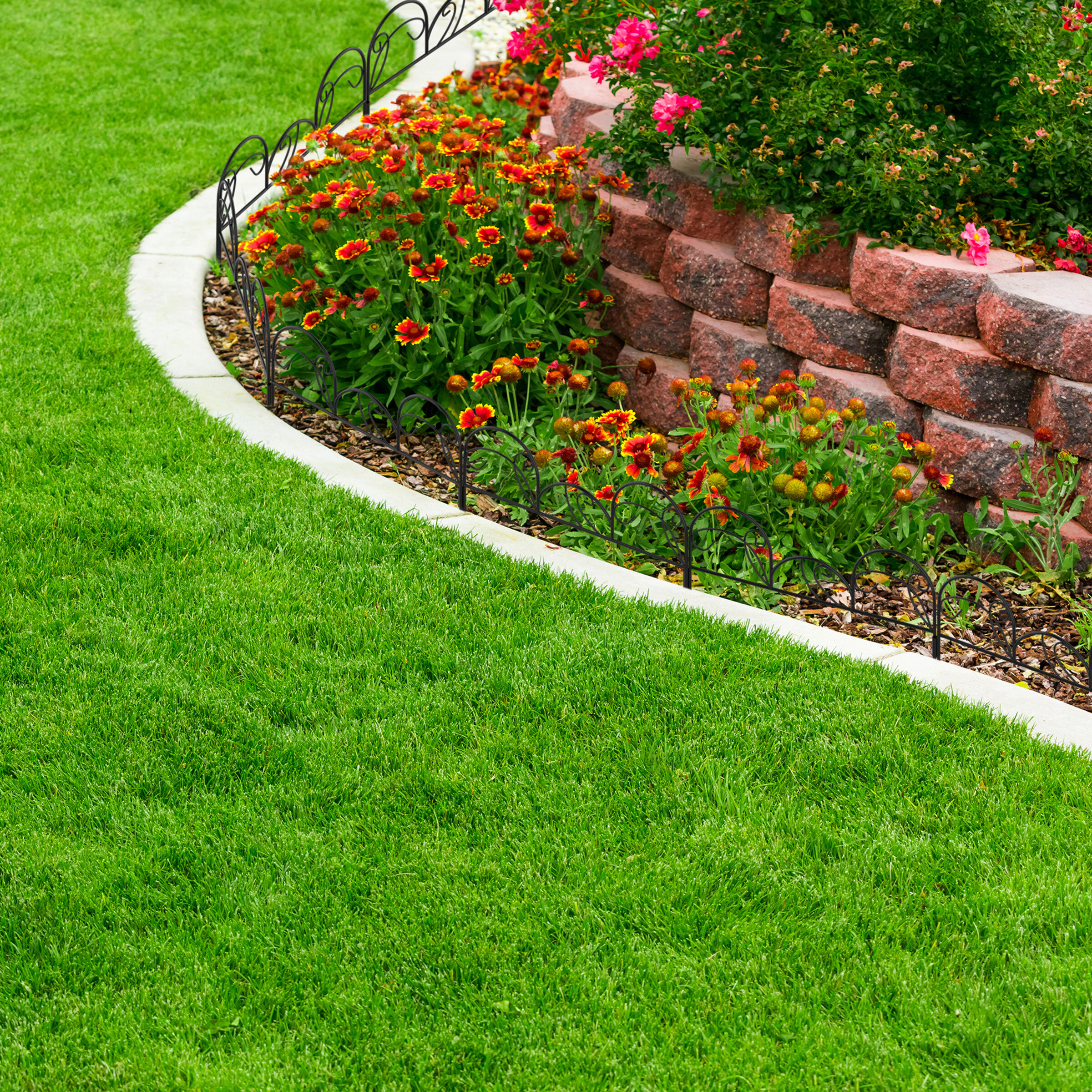 decorative flower bed edging