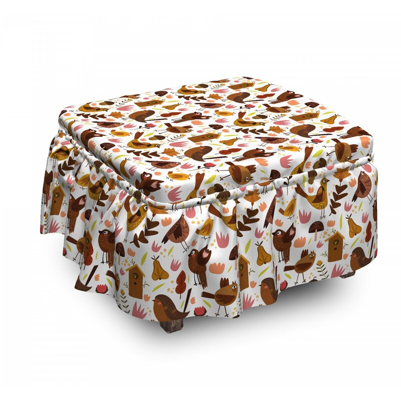 East Urban Home Ambesonne Nursery Ottoman Cover Forest