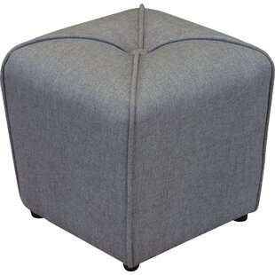 Bellatrix Tufted Cube Ottoman by Andover Mills