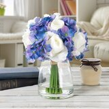 Faux Silk Hydrangea and Rose Floral Arrangements and Centerpieces