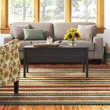 Siena Lift Top 4 Legs Coffee Table with Storage