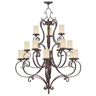 Fleur De Lis Living Bressler 15-Light Shaded Chandelier