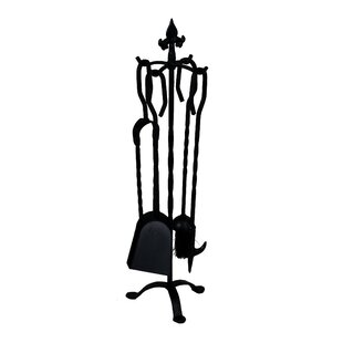 Neary 5 Piece Iron Fireplace Tool Set By Rosalind Wheeler