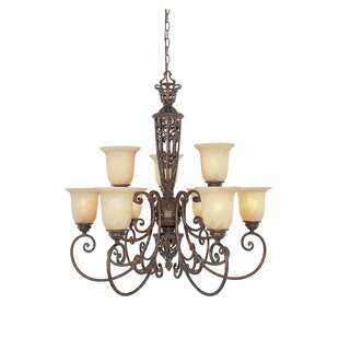 Fleur De Lis Living Claverack 9-Light Shaded Chandelier