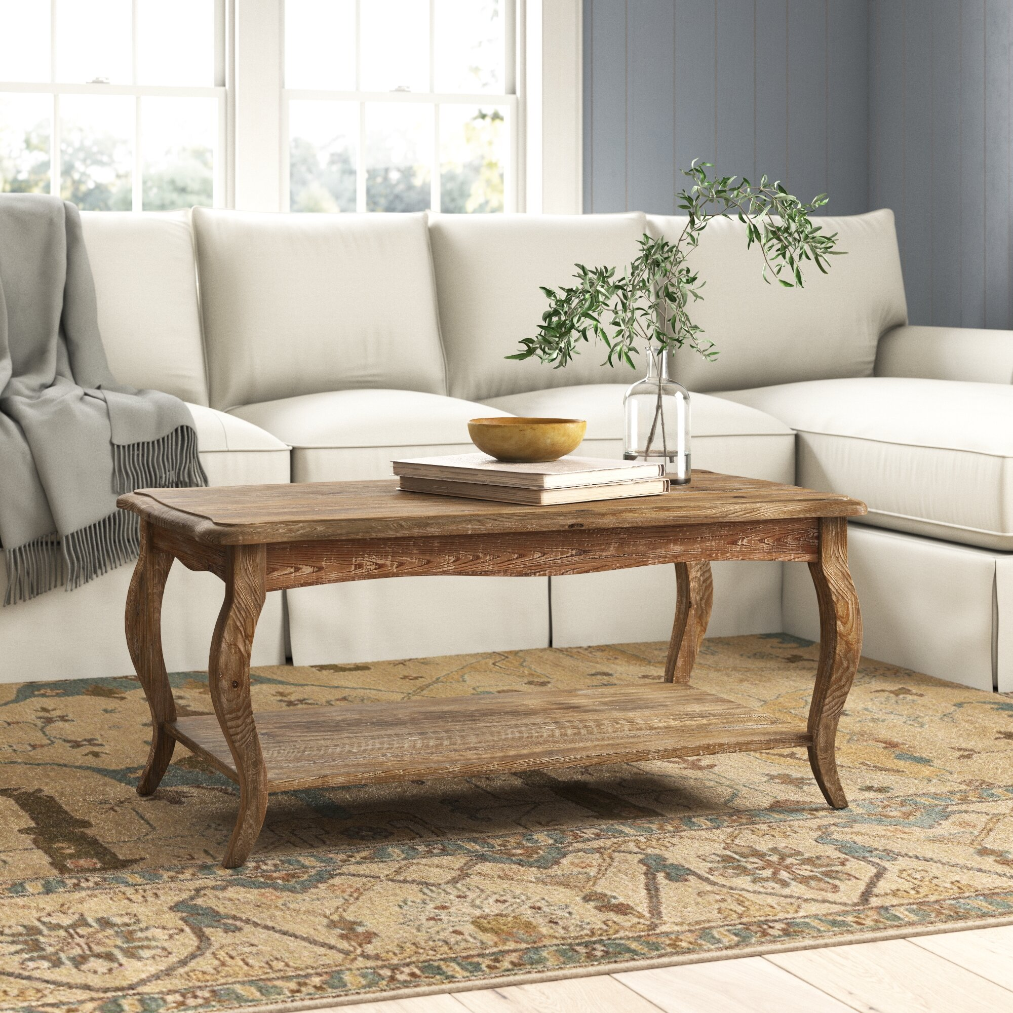 Eastham Solid Wood Coffee Table With Storage Reviews Birch Lane