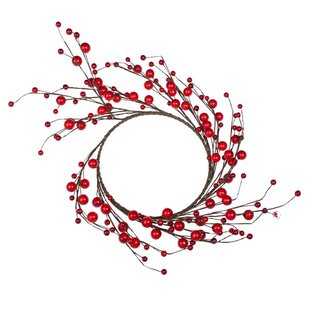 Decorative Red Berry Christmas Wreath By The Seasonal Aisle