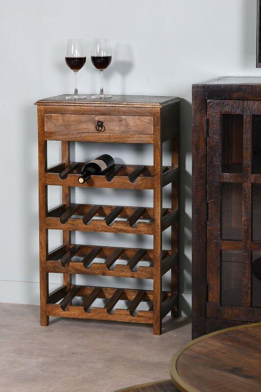Red Barrel Studio Hubbardston 20 Bottle Floor Wine Bottle Rack
