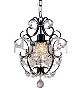 Daphne 1-Light Crystal Pendant by House of Hampton
