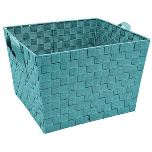 Navy Woven Basket | Wayfair