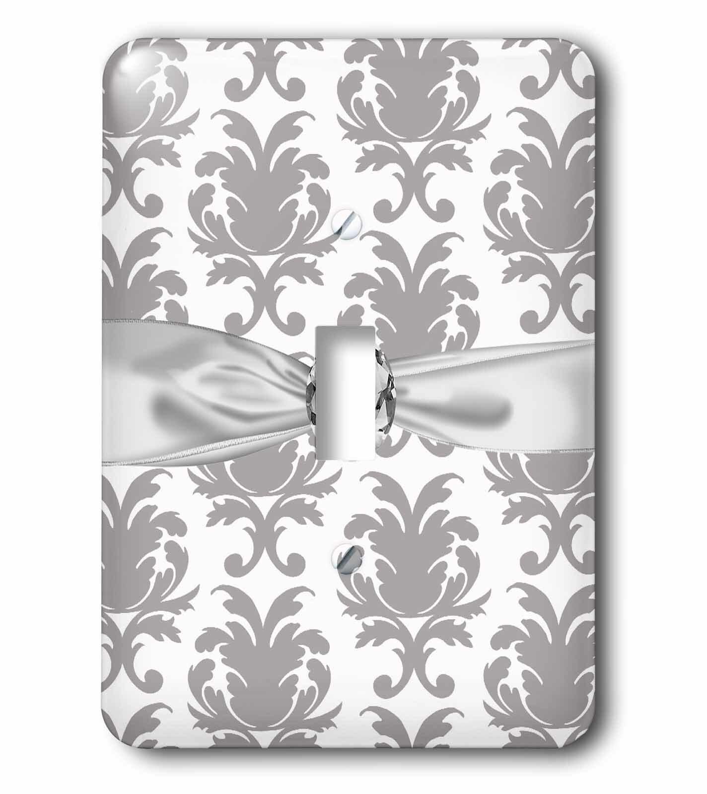 3drose Baroque Decorative Elegant Damask Faux Diamond Ribbon 1 Gang Toggle Light Switch Wall Plate Wayfair