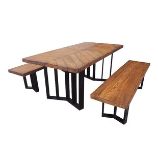 Gracie Oaks Merrydale Outdoor Picnic Table with 2 Benches