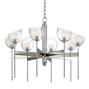 Willa Arlo Interiors Delano 8-Light LED Shaded Shaded Chandelier