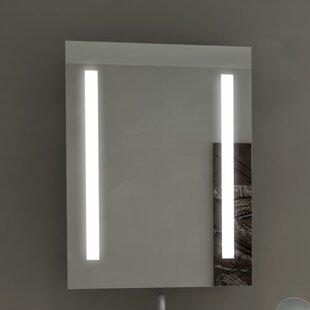 Orren Ellis Lency Rectangle Illuminated Wall Mounted Bathroom / Vanity Wall Mirror