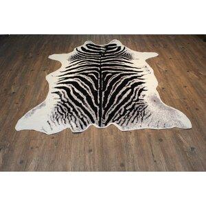 Faux Zebra Handmade Black/White Indoor Area Rug