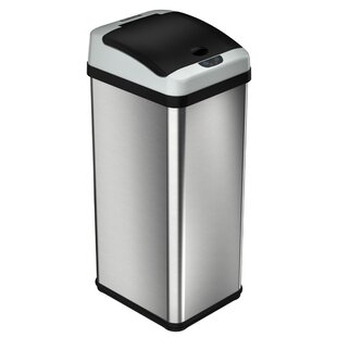 halo Platinum 13 Gallon Motion Sensor Trash Can