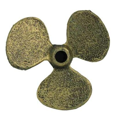 Propeller Paperweight Handcrafted Nautical Decor Finish: Antique Gold