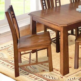 Mia Solid Wood Dining Chair Loon Peak