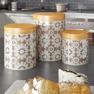 Hannan 3 Piece Kitchen Canister Set