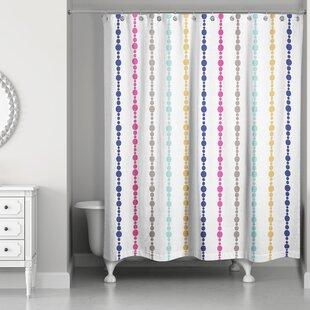Ricker Bead Pattern Single Shower Curtain