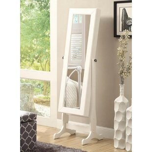 Antionette Free Standing Jewelry Armoire with Mirror