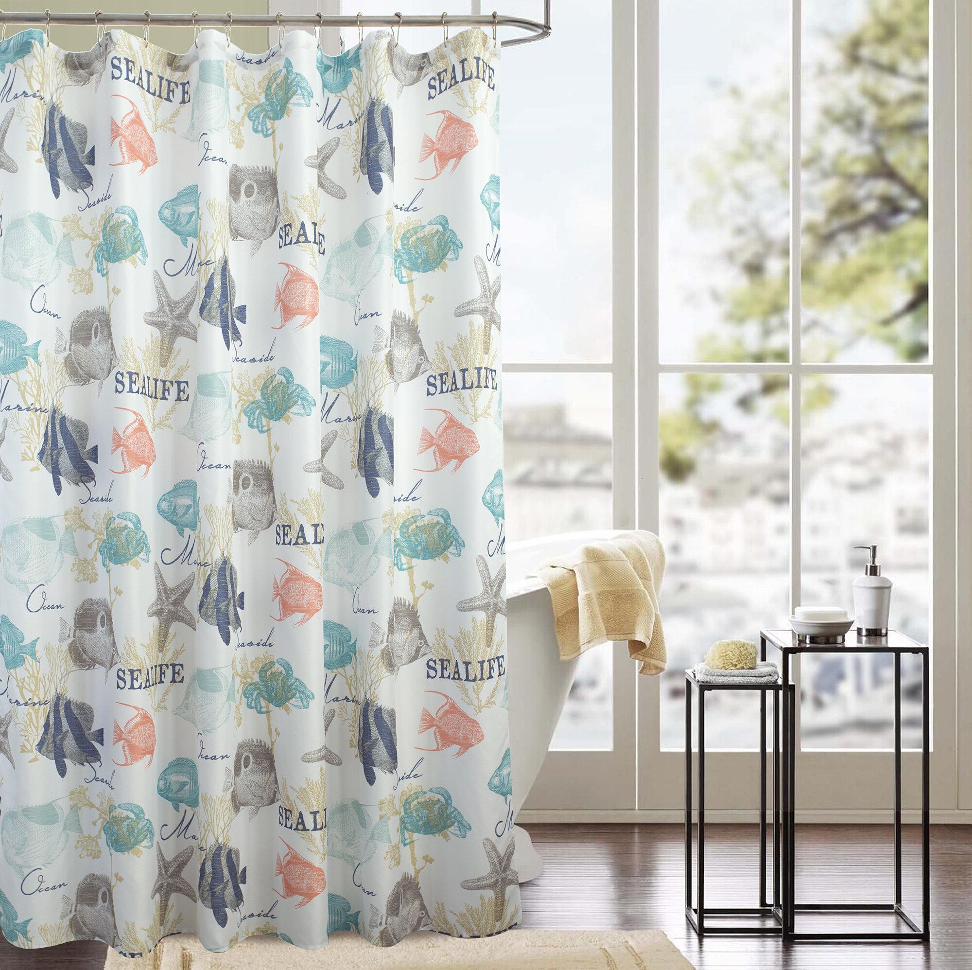 Rosecliff Heights Bellavia Sea Life Odorless Single Shower Curtain Wayfair