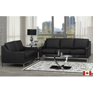 Read Reviews Bland 3 Piece Leather Living Room Set by Rosdorf Park Reviews (2019) & Buyer's Guide