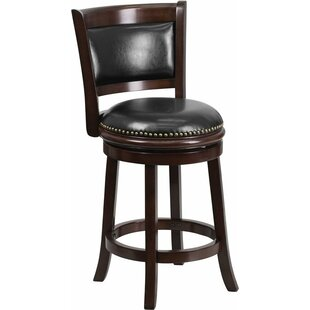 Jenkin 24'' Swivel Bar Stool by Charlton Home