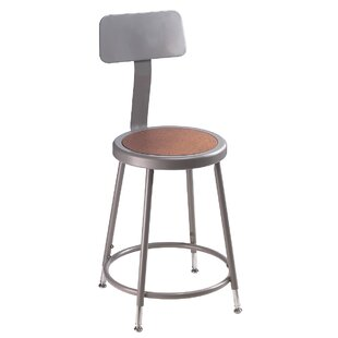 Height Adjustable Stool with Backrest