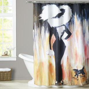Verlene Lady Zaza and Fifi Single Shower Curtain