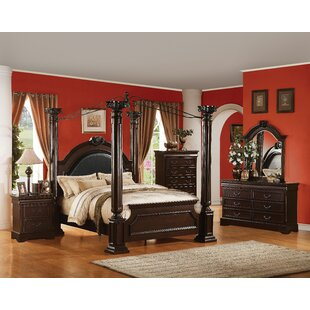 Starks Upholstered Canopy Configurable Bedroom Set