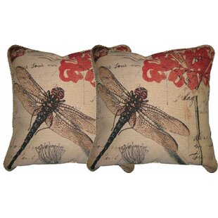 Dragonfly Dream Woven Pillow Cover (Set of 2)