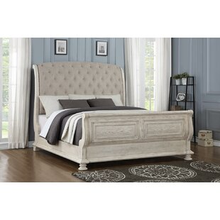 One Allium Way Piland Upholstered Sleigh Bed