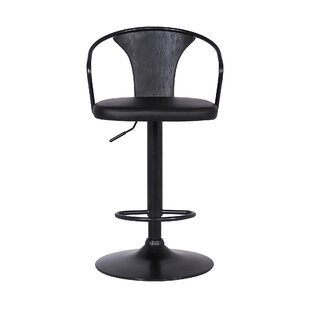 Almus Adjustable Height Swivel Bar Stool