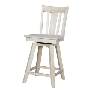 Joslin 24 Swivel Bar Stool August Grove