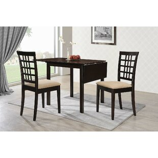 Furlong 3 Piece Drop Leaf Dining Table Set Charlton Home
